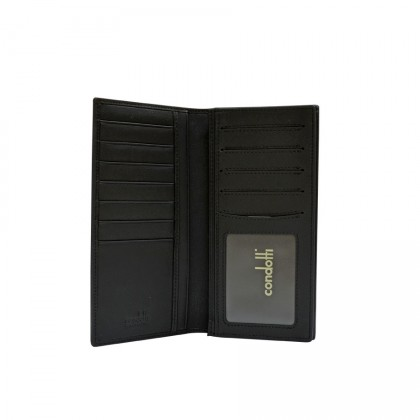 Condotti Men's Long Wallet W/ Zip Pocket [ C-60814 ]